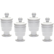 Dimond Home White Polar Filled Votive, Set of 4