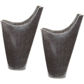 Dimond Home Reaction Filled Vases in Gray, Set of 2
