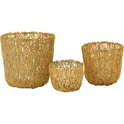 Dimond Home Wild Woven Wire Bowl