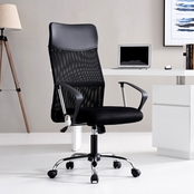 Hodedah Black Mesh High Back Office Chair
