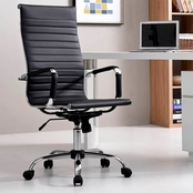 Hodedah High Back Retro Office Chair