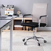 Hodedah Mid Back Mesh Swivel Office Chair