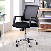 Hodedah Modern Mid Back Mesh Swivel Office Chair