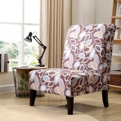 Hodedah Armless Fall Foliage Accent Chair