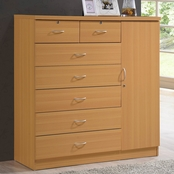 Hodedah 7 Drawer, 1 Door Chest