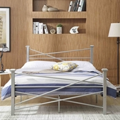 Hodedah Modern Metal Bed