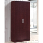 Hodedah 2 Door Wardrobe with Shelves