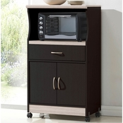 Hodedah Contemporary Microwave Cart