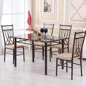 Hodedah 5 Piece Dinette Set