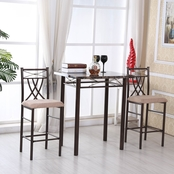 Hodedah 3 Piece Dinette Set