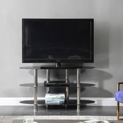 Hodedah Oval TV Stand with Mount