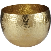 Dimond Home Gold Hammered Brass Dish, Small