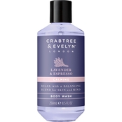 Crabtree & Evelyn Lavender and Espresso Body Wash 8.5 oz.