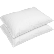 Rio Home Fashions Hotel Laundry Breathable Waterproof Pillows, Set of 2