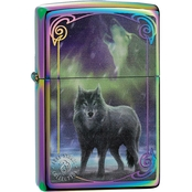 Zippo Anne Stokes Collection Spectrum Wolf Lighter