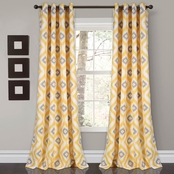 Lush Decor Budapest Geo Room Darkening Window Curtain  Set 52x84