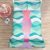 Lush Decor Mermaid Ruffle Comfort Set