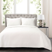 Lush Decor 3 Pc. Ava Diamond Oversized Cotton Quilt Set