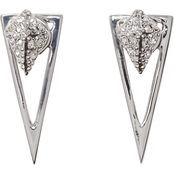 Vince Camuto Drop Back Triangle Earrings