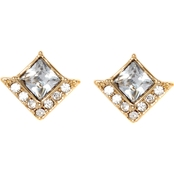Vince Camuto Square Shaped Crystal Stud Earrings