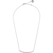 Vince Camuto Curved Pave Bar Pendant