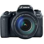 Canon EOS 77D 24.2MP DSLR Camera with EF-S 18-135 IS USM Lens Kit