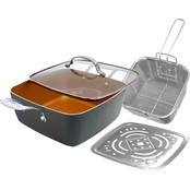 Gotham Steel Deep Square Nonstick Multipurpose Chef's Pan 11 in.
