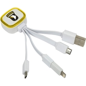 QuikVolt 101st Airborne Division Tri Charge USB Cable with Lightning Adapter