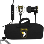 AudioSpice 101st Airborne Division Scorch Earbuds with Mic and BudBag