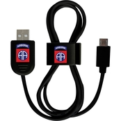 QuikVolt 82nd Airborne Division Micro USB Cable with QuikClip