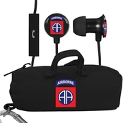 AudioSpice 82nd Airborne Division Scorch Earbuds with Mic and BudBag