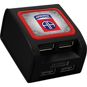 QuikVolt 82nd Airborne Division 4 Port USB Wall Charger
