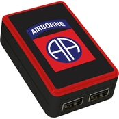QuikVolt 82nd Airborne Division Dual Port USB Wall Charger