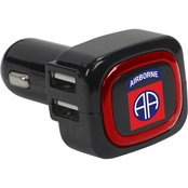 QuikVolt 82nd Airborne Division 4 Port USB Car Charger