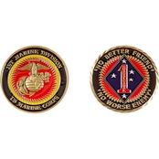 Challenge Coin 1st Marine Division Coin