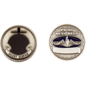 Challenge Coin Navy Submarine Service Silver Coin