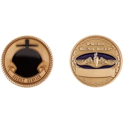 Challenge Coin Navy Submarine Service Gold Coin