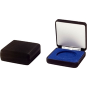 Challenge Coin Velvet Steel Box, Black