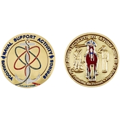Challenge Coin Naval Support Activity Saratoga Springs Coin