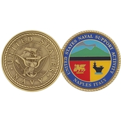 Challenge Coin Naval Support Activity Naples Italy Coin
