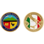 Challenge Coin Naval Support Activity Naples Coin