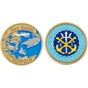 Challenge Coin Naval Station Norfolk Coin