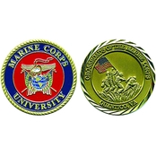 Challenge Coin Quantico Marine Corps University Coin