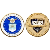 Challenge Coin Naval Postgraduate School Air Force Coin