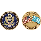 Challenge Coin U.S. Embassy Athens Greece Coin