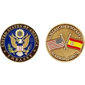 Challenge Coin US Embassy Madrid Spain Coin