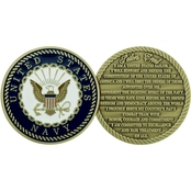 Challenge Coin U.S. Navy Sailors Creed Coin