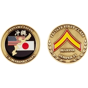 Challenge Coin USMC Okinawa Private 1st Class Coin