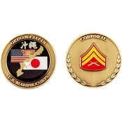 Challenge Coin USMC Okinawa Corporal Rank Coin