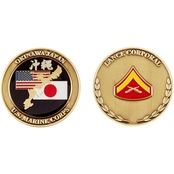 Challenge Coin USMC Okinawa Lance Corporal Coin